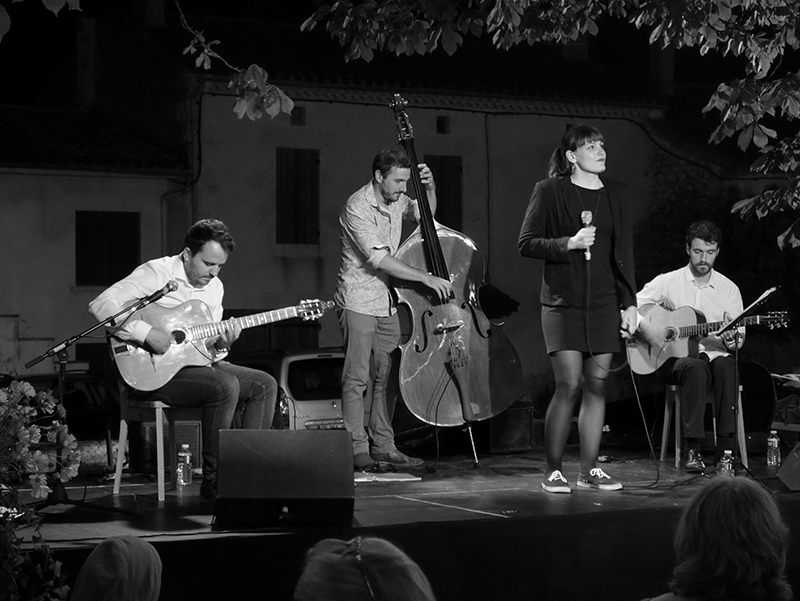 Big Ben Trio & Clémence Lagier - La Romieu - juillet 2016 © Cazalen