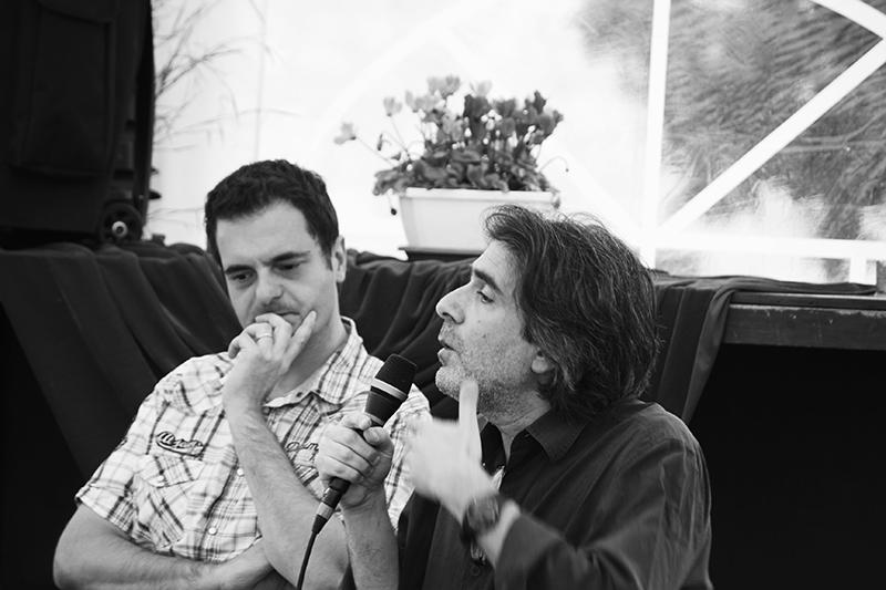 Mise en oreille avec le compositeur Alexandros Markeas - La Romieu - Juillet 2016 - © Polli Kaminski