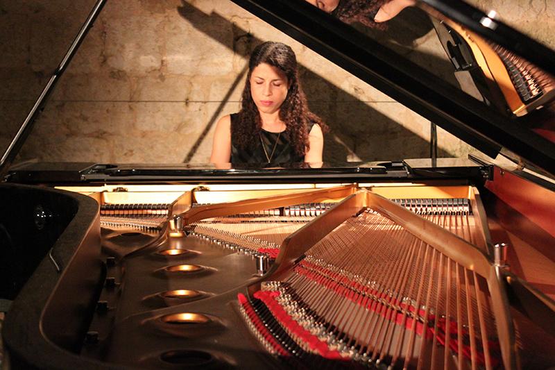 Célimène Daudet, récital de piano - La Romieu - Juillet 2016